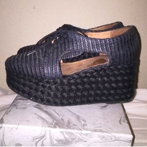 Jeffery Campbell woven platforms size 7